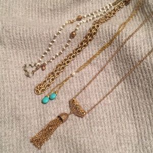 4 necklace bundle costume jewelry